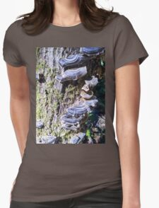 Redwood Forest Mushrooms Womens Fitted T-Shirt