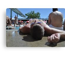 Poolside Canvas Print