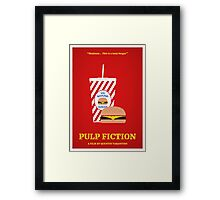 Pulp Fiction film poster Framed Print