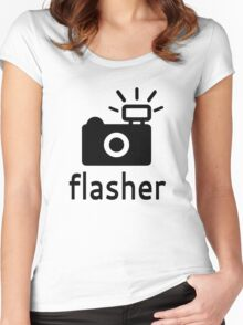 Flasher Women's Fitted Scoop T-Shirt