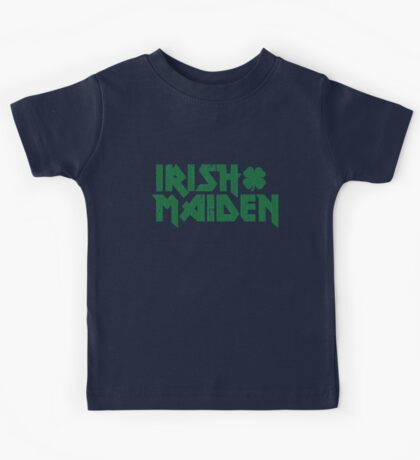 St. Patrick Day : Irish Maiden Kids Tee