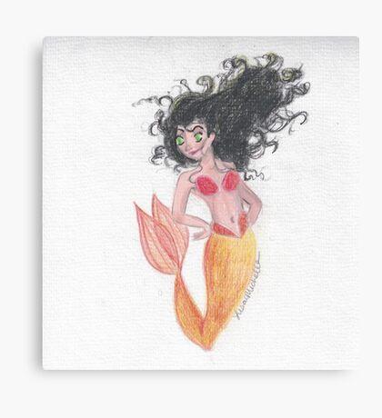 Feisty Mermaid Canvas Print