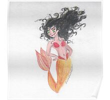 Feisty Mermaid Poster