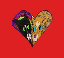 Colorful Heart Love Cats Womens Fitted T-Shirt