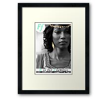 F is for Flawless Framed Print
