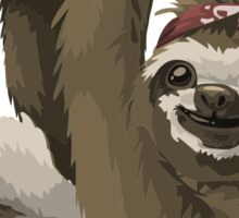 Cute Sloth With Skull Bandana Sticker