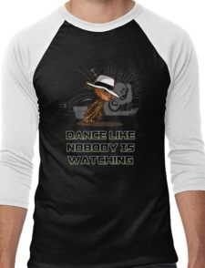 dance like nobody is watching  Men's Baseball ¾ T-Shirt