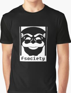 Mr. Robot TV Series Banksy Fsociety Graphic T-Shirt