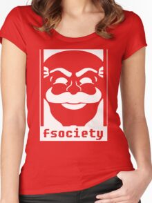 Mr. Robot TV Series Banksy Fsociety Women's Fitted Scoop T-Shirt