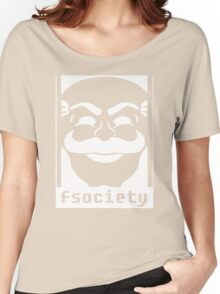 Mr. Robot TV Series Banksy Fsociety Women's Relaxed Fit T-Shirt