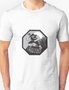 Samoan Ninja on top of Nipa Hut Retro T-Shirt