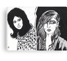 Emo Girls Canvas Print