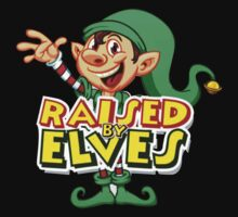 Raised By Elves Elf Christmas One Piece - Long Sleeve