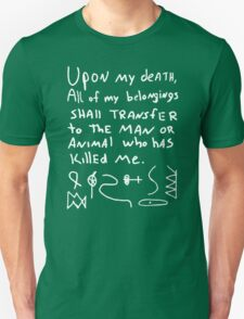 RON SWANSON'S WILL RIDDLE MAP PARKS AND RECREATION Unisex T-Shirt