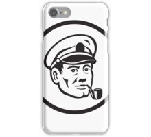 Sea Captain Smoke Pipe Circle Retro iPhone Case/Skin