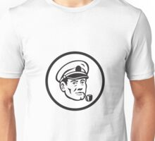 Sea Captain Smoke Pipe Circle Retro Unisex T-Shirt