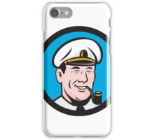 Smiling Sea Captain Smoking Pipe Circle Retro iPhone Case/Skin