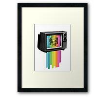 Television Melt Framed Print