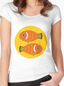 Pisces zodiac sign Women's Fitted Scoop T-Shirt