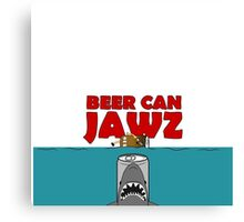 BEER : BEER CAN JAWZ Canvas Print