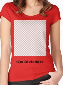 I'm Invisible? Women's Fitted Scoop T-Shirt