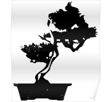 Bonsai Tree (black) Poster