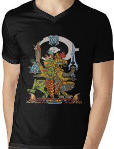 "Halo Inspired Maya design ""Gods Among""  Mens V-Neck T-Shirt"