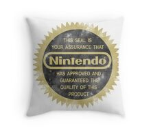 Nintendo Seal of Quality Throw Pillow