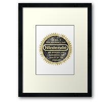 Nintendo Seal of Quality Framed Print