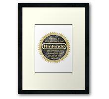 Nintendo Seal of Quality Framed Print