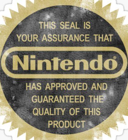 Nintendo Seal of Quality Sticker