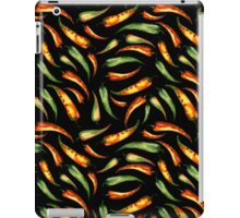 Watercolor seamless hand drawn pattern with red hot chilli peppers.  iPad Case/Skin