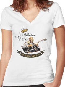 B.B. King - Rest In Peace Women's Fitted V-Neck T-Shirt