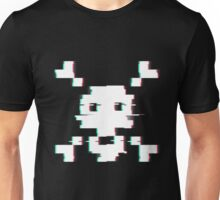 Pixel Skull Distort Unisex T-Shirt