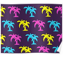 Funky palm/cocunut tree pattern Poster