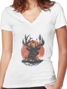 Look Deep Into Nature Women's Fitted V-Neck T-Shirt