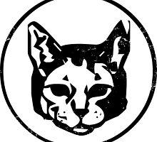 Cat Head (black) by PsychicCatStore