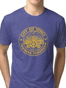True Detective - City of Vinci logo or Tri-blend T-Shirt