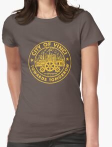 True Detective - City of Vinci logo or Womens Fitted T-Shirt