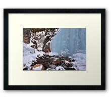 King Creek icefalls Framed Print