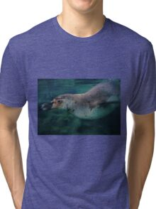 Swimming Penguin - limited supply Tri-blend T-Shirt