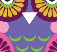 Purple owl Sticker