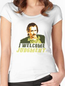 I welcome judgment Women's Fitted Scoop T-Shirt