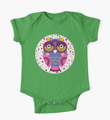Purple owl One Piece - Short Sleeve
