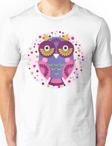 Purple owl Unisex T-Shirt