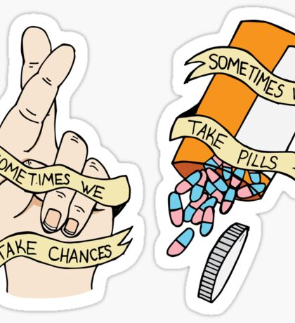 "Fall Out Boy - Hum Hallelujah ""Chances and Pills"" Sticker"