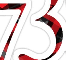 1738 - black and red Sticker