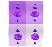 Steps of a rose - pop art - purple Poster