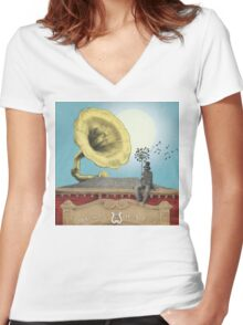 The Music Hall Women's Fitted V-Neck T-Shirt