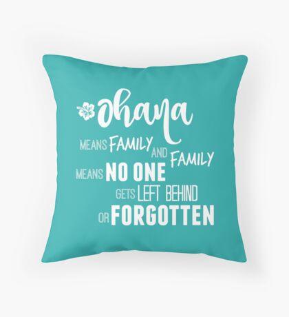 Ohana in white Throw Pillow